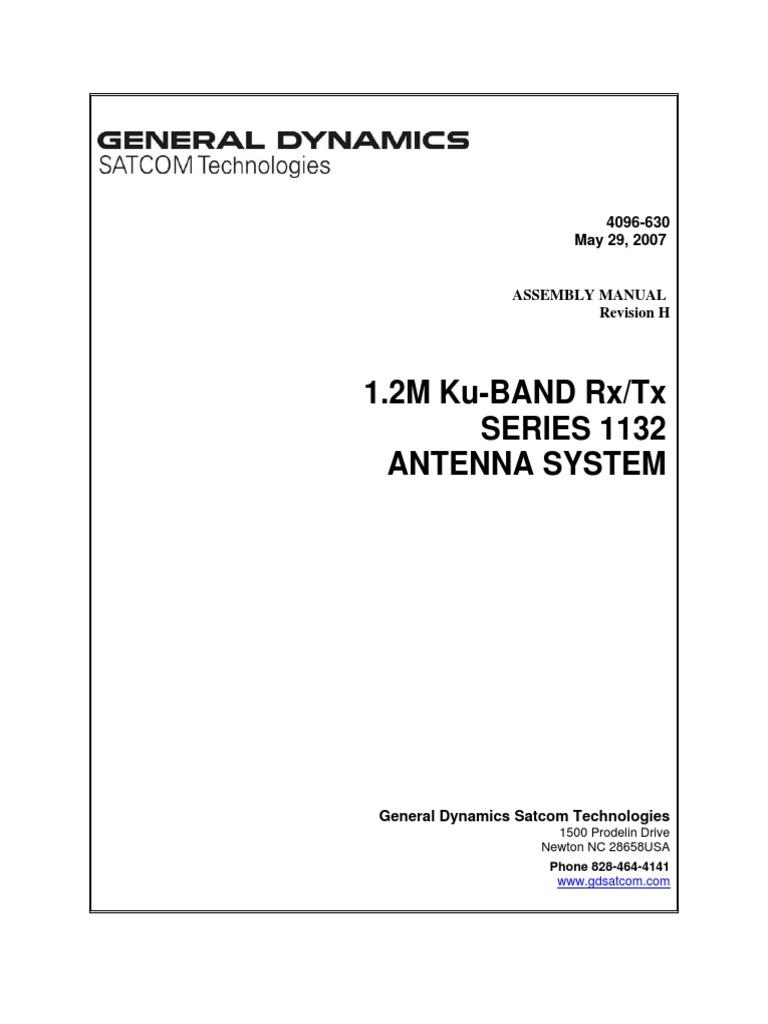 Prodelin_1132_Manual_Datasheet   Screw   Communications Satellite