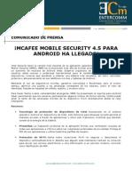 NP Intel Security - McAfee Mobile Security 4.5 Para Android Ha Llegado