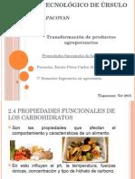 Propiedades funcionales  de Los Carbohidratos