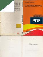 Deleuze Gilles El Bergsonismo