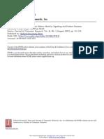 Consumer Divergence Study