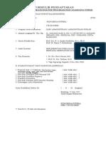 Formulir Pendaftaran Ujian Kualifikasi Doktor