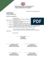 Modelo de Ofício Centro Acadêmico