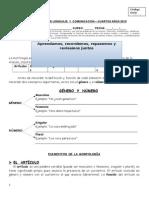 Guía de Trabajo - Morfología - Cuartos - 2015