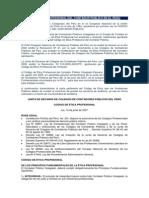 Código de Ética Profesional Del Contador Público en El Perú