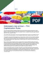 Tax Alert Sept - PMK 169 - Thin Capitalization in Indonesia