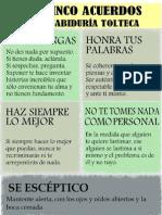 5 Acuerdos Cultura Tolteca