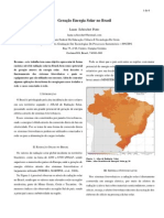 Geração de Energia Solar No Brasil