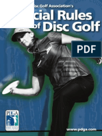 disc golf rules