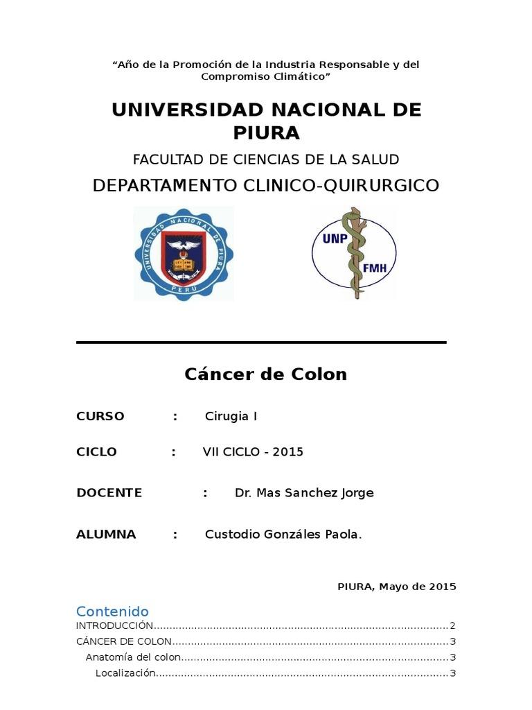 Monografia Cancer de Colon - Sigmoides