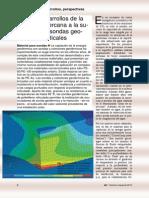 Nuevos Desarrollos de La Geotermia Cercana a La Superficie Con Sondas Geotermicas Verticales