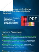 PSY202 Lecture 11 Slides - Proposal Templates Sampling and Analyses in Mixed-Methods Research