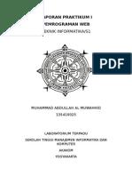 Laporan Praktikum i Pemrograman Web