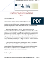 The Approaching Implosion of Venezuela and Strategic Implications for the United States - R Evan Ellis