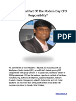 IT an Integral Part of the Modern Day CFO Responsibility