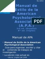 PPT Manual de Estilo APA 6ta Edicion 2010