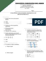 Evaluaciones Quinto