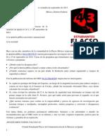 COMUNICADO Comunidad Flacso México aniversario masacre en Iguala 22-Sep-2015