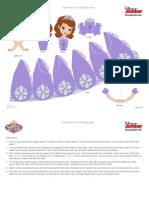 Disney Sofia the First 3d Papercraft Craft Printable 1012