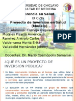 Proyecto de Inversion en Salud Dividido