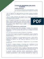 Normas de Etica de Ingenieria Civil en El Ecuador