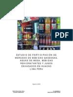 Estudio Del Mercado de Bebidas Gaseosas Huacho Peru