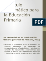 Currículo Matemático Para La Educación Primaria