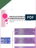 Obligaciones de Los Administrados