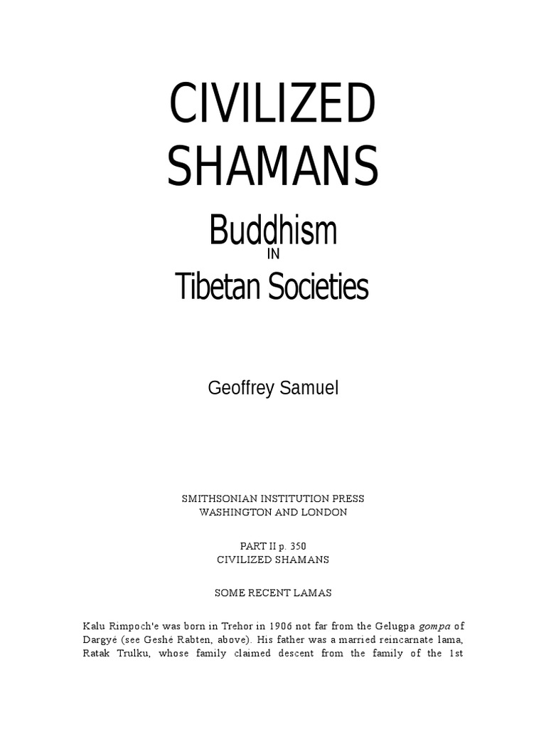 Samuels Civilized Shamans 2 Buddhist Texts Gautama Buddha