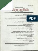Jurnal Studi Ilmu-ilmu Al-Quran dan Hadis Vol. 2 No. 1 Juli 2001 (1)