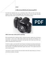 The Feature of Mirror-less DSLR by the Samsung NX10