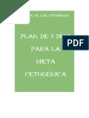 dieta cetosis india plan de comidas pdf