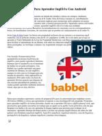 siete Aplicaciones Para Aprender Inglés Con Android