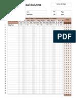 Lista de Asistencia Excel en Blanco