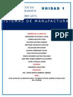 Unidad 1 Sistemas de Manofactura