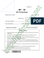 AP PGECET 2015 Bio Tech (BT) Question Paper & Answer Key