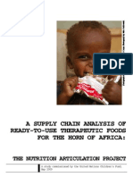 Supply Chain Analysis of Ready-To-use Therapeutic Foods for the Horn of Africa