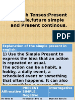 English Tenses.present Simple and Present Continous.