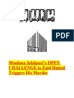 Moulana Jalalpuris OPEN CHALLENGE to Zaid Hamid Triggers His Murder