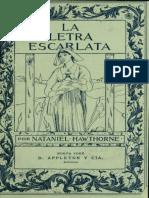 Letra Escarlata N Hawthrone