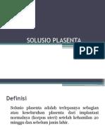 Solusio Plasenta