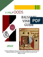 2015 Italfoods Balsamic Guide