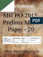 64506_SBI PO Preliminary Model Paper 20