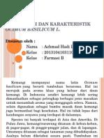 Klasifikasi Dan Karakteristik Ocimum Basilicum