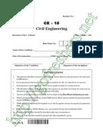 AP PGECET Civil Engg 2015 Question Paper & Answer Key Download