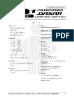 Pembahasan Ps 1 MATEMATIKA DASAR Superintensif SBMPTN 2015