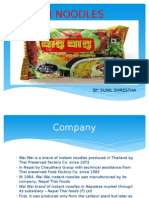 Wai Wai noodles SWOT  & TWOS Analysis and Marketing mix of WAI WAI NOODLES