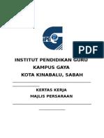 Kertas Kerja Majlis Persaraan