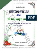 [DeThiThu.net]30 Bai Luan Tieng Anh Luyen Thi THPT DH