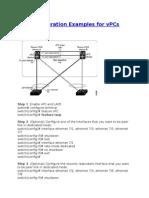 Configuration Examples for VPCs